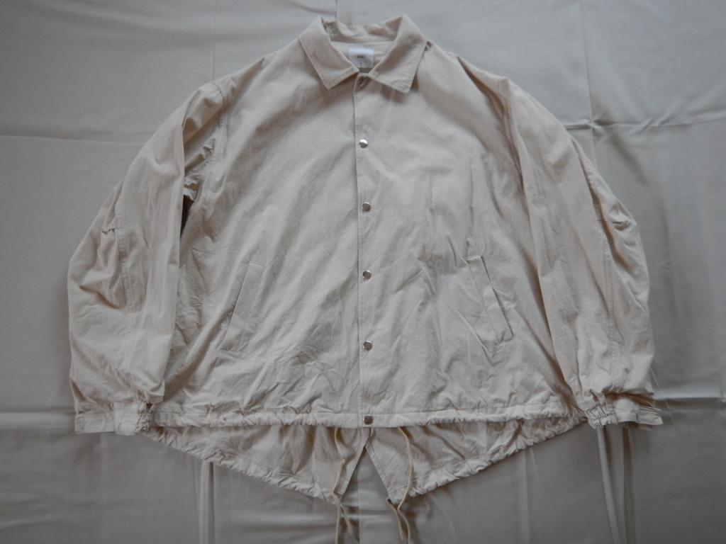 RISEY military coach jacket off-white ライジー ミリタリーコーチジャケット
