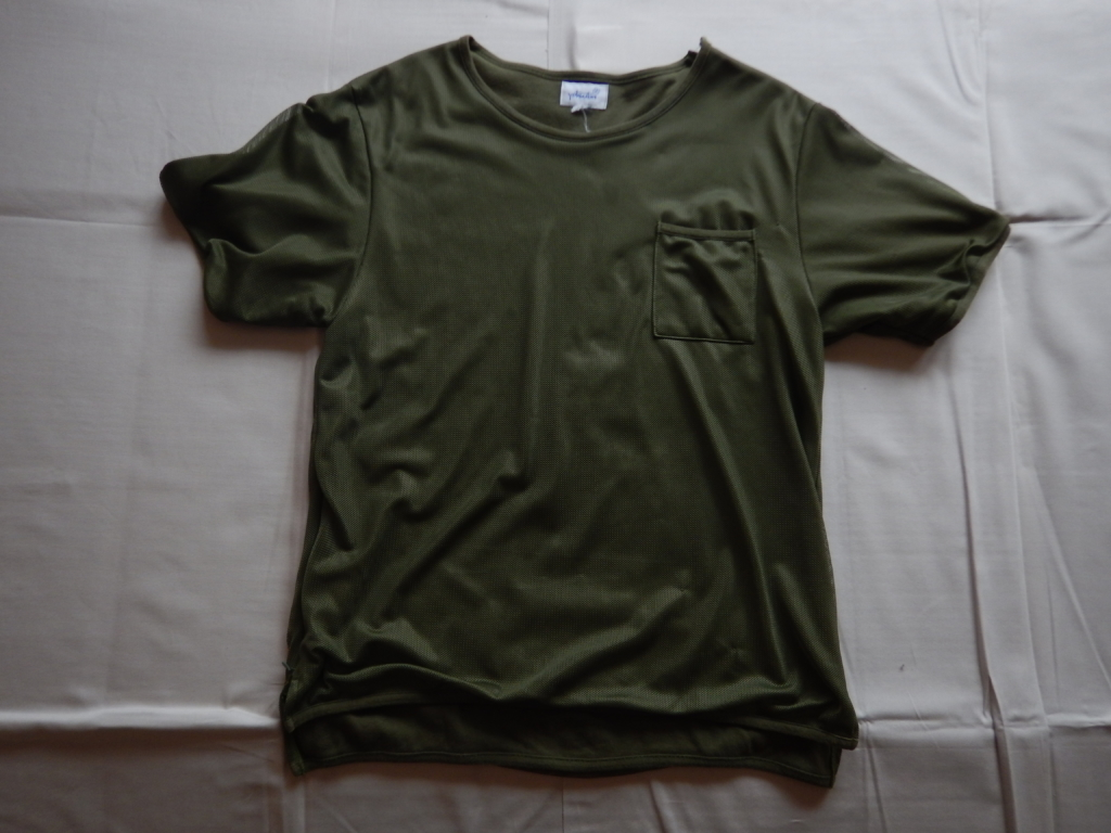 YOTSUBA mesh pocket T-shirts olive ヨツバ メッシュポケットTシャツ