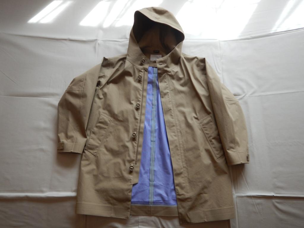 nanamica GORE-TEX hooded coat beige Ssize ナナミカ ゴアテックスフードコート