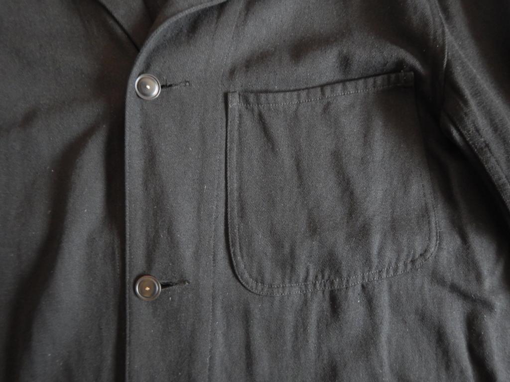 2017ss comoli silk nep coverall black コモリ シルクネップカバーオール