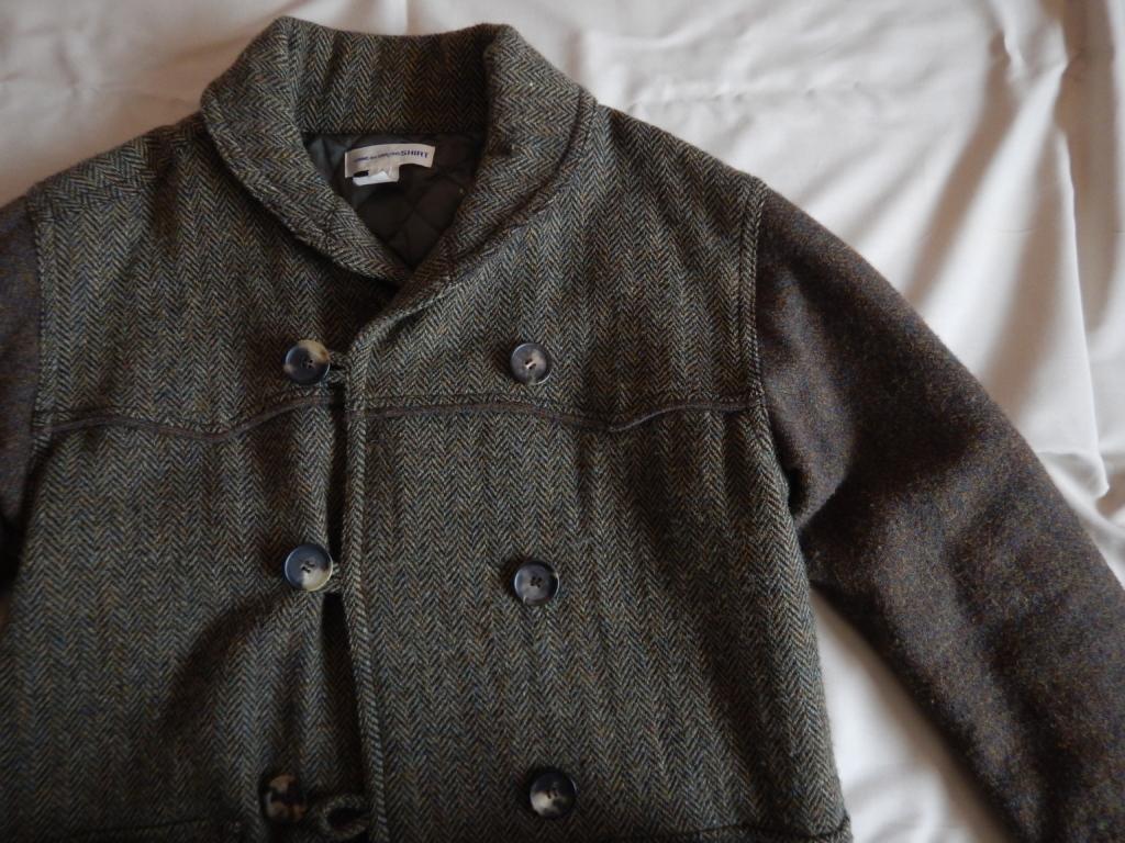 COMME des GARCONS SHIRTS shawl collar P-coat コム・デ・ギャルソン ショールカラーピーコート