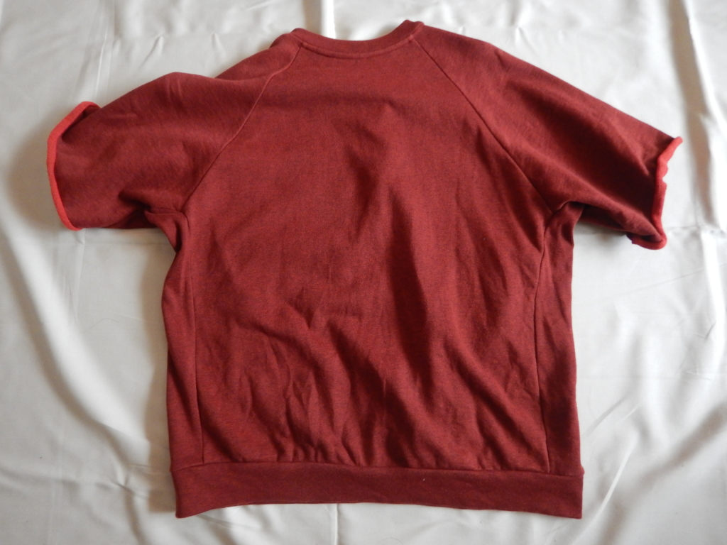 SUNSEA HALF JIP SWEAT T-SHIRTS RED 2017ss サンシー ハーフジップスウェットTシャツ