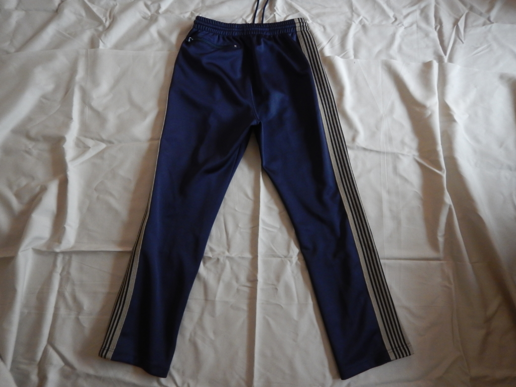 needles narrow track pants navy×beige ニードルス ナロートラックパンツ ネイビー