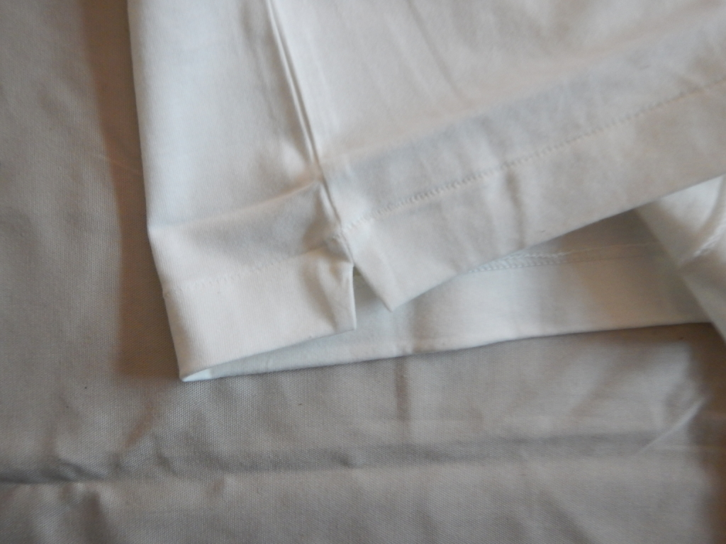 URBAN RESEARCH別注 scye basics henry neck T-shirts white サイベーシック ヘンリーネックTシャツ